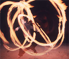 Poi Classes and Fire Dancing in Santa Barbara with Romi Cumes