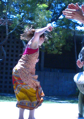 African Dance Classes in Santa Barbara with Romi Cumes